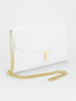 Ted Baker Straw T Clutch - Ivory