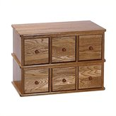 Leslie Dame CD-150 Solid Apothecary Style Multimedia Cabinet