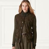 Ralph Lauren Suede-Front Cashmere Jacket