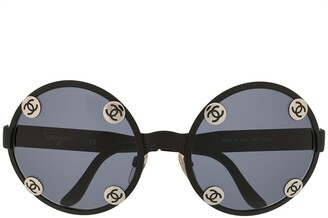 Chanel Pre Owned CC plaque sunglasses