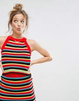 Asos Co-ord Crochet Tank In Stripe