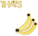 Kate Spade That's Bananas Gold-Tone Enamel Stud Earrings