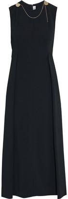 Victoria Beckham Chain-embellished Pleated Crepe Midi Dress