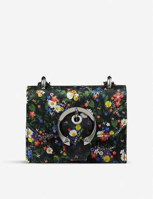 Jimmy Choo Paris mini floral-print silk cross-body bag