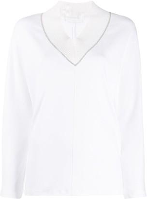 Fabiana Filippi chain embellished V-neck sweater