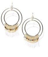 New York & Co. Double Hoop & Rings Drop Earrings