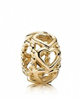 Pandora Spacer - 14K Gold Lucky in Love, Moments Collection