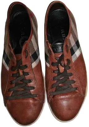 Burberry Brown Leather Trainers