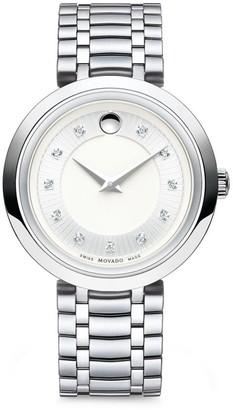 Movado 1881 Round Case Stainless Steel Bracelet Quartz Analog Watch