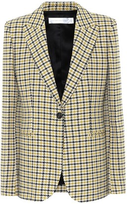 Victoria Beckham Houndstooth wool-blend blazer
