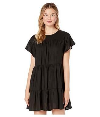 American Rose Sara Short Sleeve Ruffle Dress