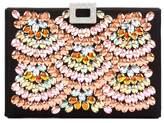 Roger Vivier Night Box embellished satin clutch