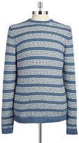 Black Brown 1826 Striped Knit Sweater
