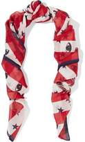 Kenzo Printed Cotton And Silk-Blend Gauze Scarf