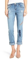 Women's Wit & Wisdom Ripped Embroidered Boyfriend Jeans