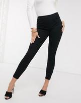 Spanx ankle grazer jean-ish leggings in black