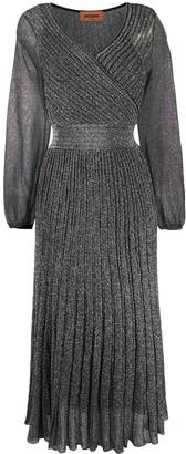 Missoni Metallic Pleated Wrap Dress