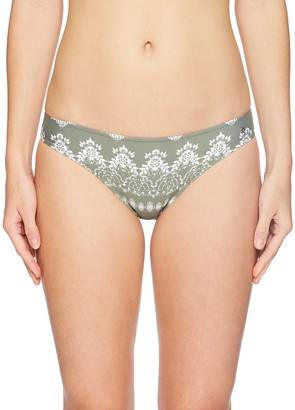 GUESS Women's Printed Lace Brief Bikini Bottom