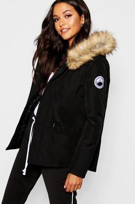 boohoo Luxe Faux Fur Sporty Parka