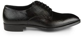 Giorgio Armani Brushed Texture Leather Loafers