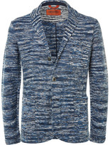 Missoni Blue Space-dyed Knitted Cotton Blazer