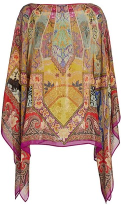 Etro Stained Glass Silk Poncho