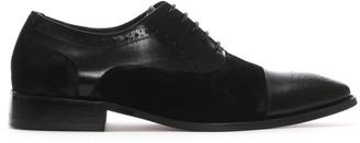 Daniel Cranmore Black Leather & Suede Brogues
