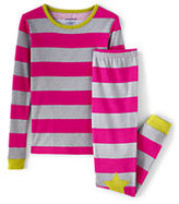 Classic Toddler Girls Snug Fit Novelty Pattern PJ Set-Country Rose Stripe