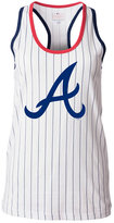 5th & Ocean Women's Atlanta Braves Pinstripe Glitter Tank Top