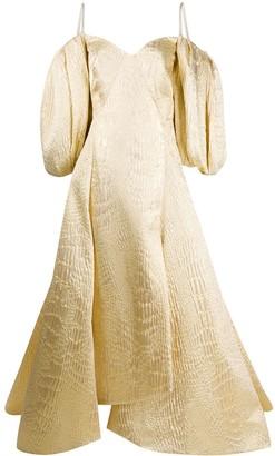 Avaro Figlio Oversized-Sleeve Gown