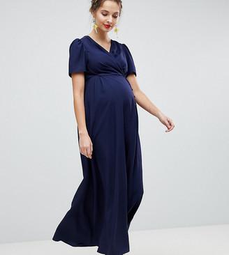 ASOS DESIGN Maternity Button Through Maxi Tea Dress