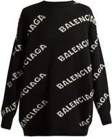 Balenciaga Logo crew-neck sweater