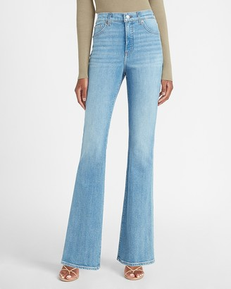 Express High Waisted Slim Flare Jeans