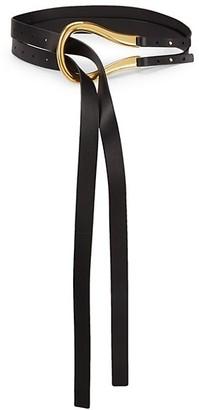 Bottega Veneta Horsebit Buckle Leather Belt