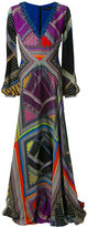 Etro bead trim maxi dress