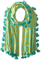 San Diego Hat Company BSS1694 Cotton All Over Banana Print Scarf with Tassels