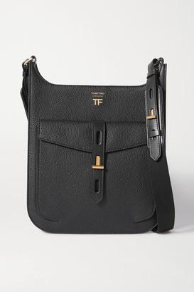 Tom Ford T Twist Medium Textured-leather Shoulder Bag - Black