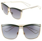 Christian Dior Women's 58Mm Retro Metal Sunglasses - Green Yellow Gold/ Grey