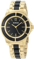 Versus By Versace Women's AL13SBQ709A079 Tokyo Gold IP Black Dial Bracelet Watch