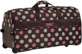 Jet Set Jet-Set Snowball Dot Brown Large Rolling Duffle