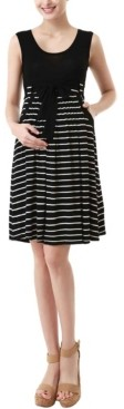 Kimi + Kai Samantha Striped Maternity Dress