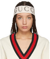 Gucci White Logo Headband