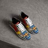 Burberry Tartan Cotton Sneakers