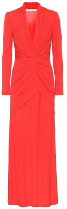 Diane von Furstenberg Stacia crApe maxi dress