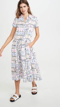 Mira Mikati Oh Lala Print Short Sleeve Shirtdress