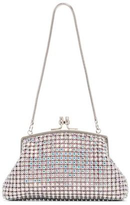 Black & Brown Emma crystal clutch bag