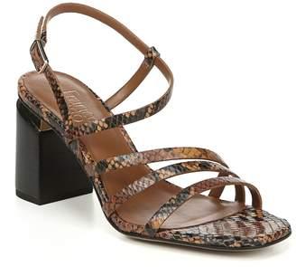 Franco Sarto Leather Strappy Block Heel Sandals- Qitara City