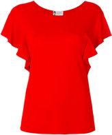Lanvin ruffled sleeve top - women - Spandex/Elastane/Viscose - 38