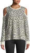 Verve Leopard-Print Cold-Shoulder Sweatshirt