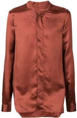 Rick Owens concealed button Faun shirt